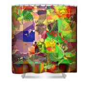 Flowers In Round Bowls - Outdoor Markets Of New York City Shower Curtain