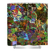 Night Market - Outdoor Markets Of New York City Shower Curtain