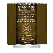 Cubs Peanuts And Cracker Jack  Shower Curtain
