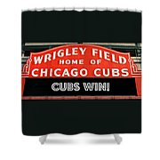 Cubs Win - Wrigley Sign Shower Curtain