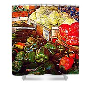 Cucumber 79 Cents Shower Curtain