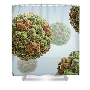 Cucumber Mosaic Virus Shower Curtain