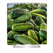 Cucumbers Shower Curtain
