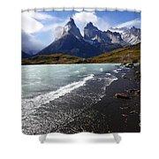 Cuernos Del Paine Patagonia 3 Shower Curtain