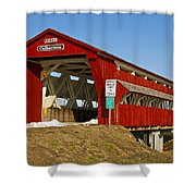 Culbertson Or Treacle Creek Covered Bridge Shower Curtain