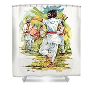Cultural Dance Of Afghanistan Attan Shower Curtain
