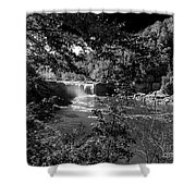 Cumberland Falls Black And White Shower Curtain