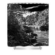Cumberland Falls Seven Bw Shower Curtain