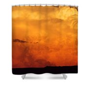 Cumulus Congestus Sunset Shower Curtain