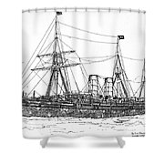 Cunard Liner Umbria 1880's Shower Curtain