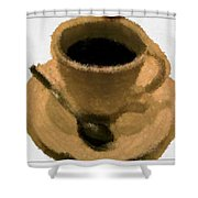 Cup Of Coffee Pissaro Style Shower Curtain