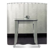 Cup On Stool Shower Curtain