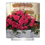 Cupcakes And Roses Shower Curtain by Terri Waters