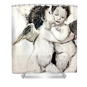 Cupid And Psyche By William Bouguereau Shower Curtain