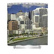 Cupid's Span Waterfront San Francisco Shower Curtain