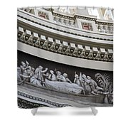 Cupola Border - Capitol Washington Dc Shower Curtain