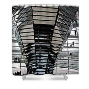 Cupola Reichstag Building II Shower Curtain