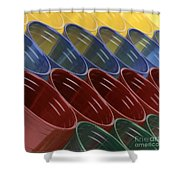 Cups7 Shower Curtain