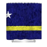 Curacao Flag Shower Curtain