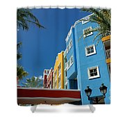 Curacaos Colorful Architecture Shower Curtain