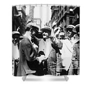 Curb Stock Brokers, C1916 Shower Curtain