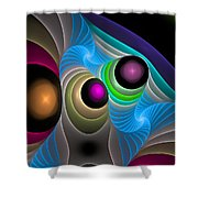 Curbisme-102 Shower Curtain