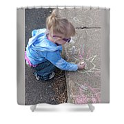 Curbside Artist Shower Curtain