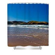 Curio Bay On South Coast Of New Zealand South Island Shower Curtain