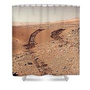 Curiosity Tracks Under The Sun In Mars Shower Curtain