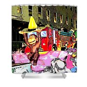 Curious George Poster Shower Curtain