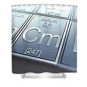 Curium Chemical Element Shower Curtain