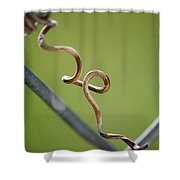 Curled Shower Curtain