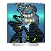 Curled Serpent Shower Curtain
