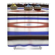 Curling Rocks On Ice Shower Curtain