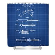 Curling Tongs Patent From 1889 - Blueprint Shower Curtain