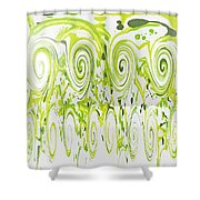 Curly Greens Shower Curtain