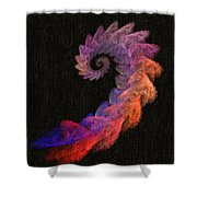 Curly Swirl - Digital Painting Effect Shower Curtain