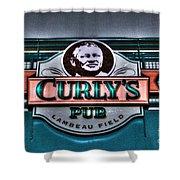 Curlys Pub - Lambeau Field Shower Curtain