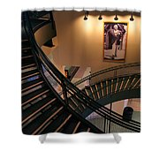 Curly's Stairway Shower Curtain