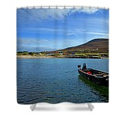 Curragh Moored At Dooega Village Shower Curtain