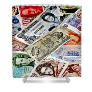 Currencies Shower Curtain