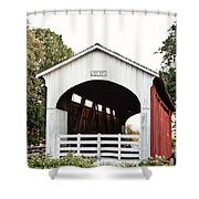 Currin Covered Bridge Shower Curtain