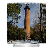Currituck Beach Lighthouse Corolla Nc Color Img 3772 Shower Curtain