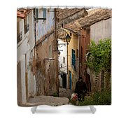 Currruca Slope In Calahorra Shower Curtain