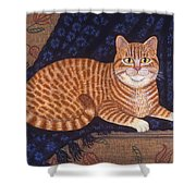 Curry The Cat Shower Curtain