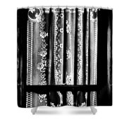 Curtain In Black And White Shower Curtain