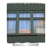 Curtained Reflection Shower Curtain