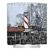 Curtin's Wharf Burlington New Jersey Shower Curtain