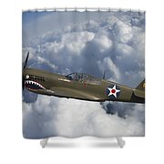 Curtiss P-40 Warhawk Flying Tigers Shower Curtain