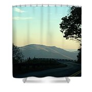 Curve In The Road Shower Curtain